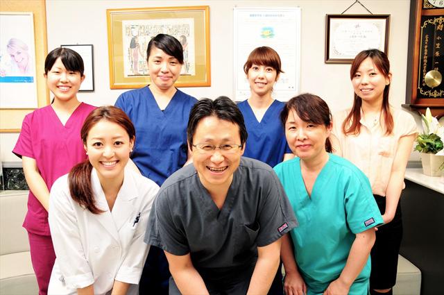 当医院の自慢のスタッフです。
